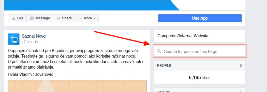search-fb-fan-page