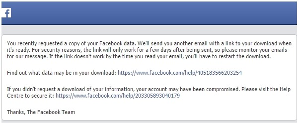 download facebook account