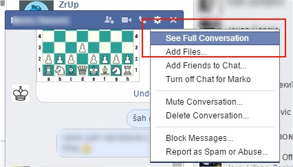 play facebook chess chat