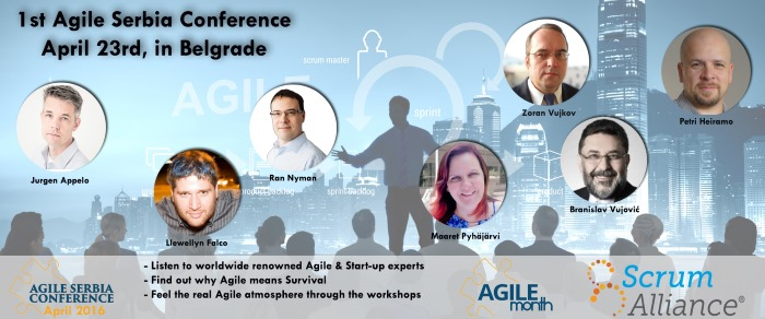1st Agile Serbia Conference Announcement website