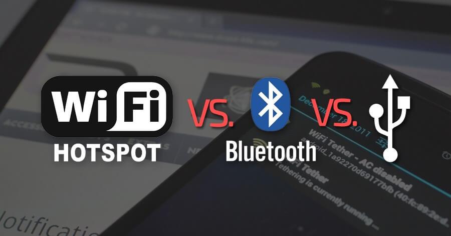 wifi hotspot bluetooth usb tethering
