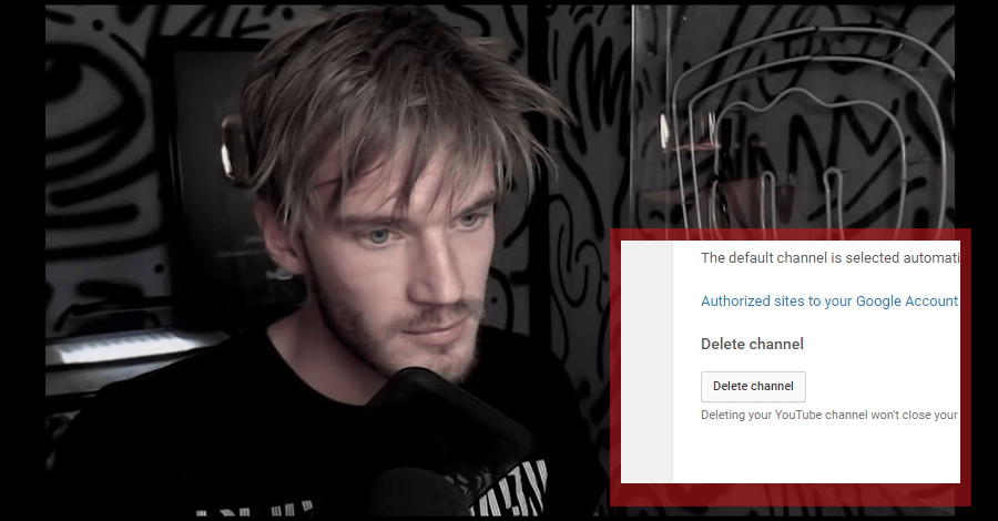 pewdiepie deleting account