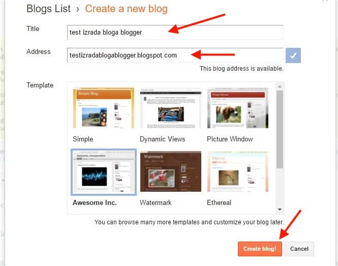kako napraviti blog blogger