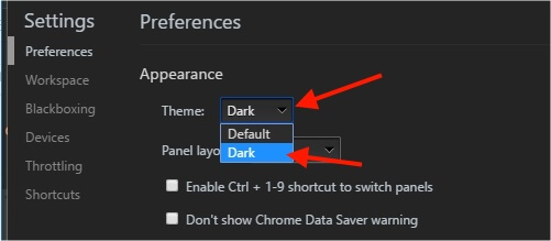 chrome developer console dark theme (2)