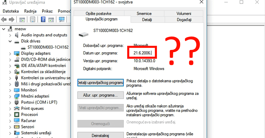 windows driver date why 2006