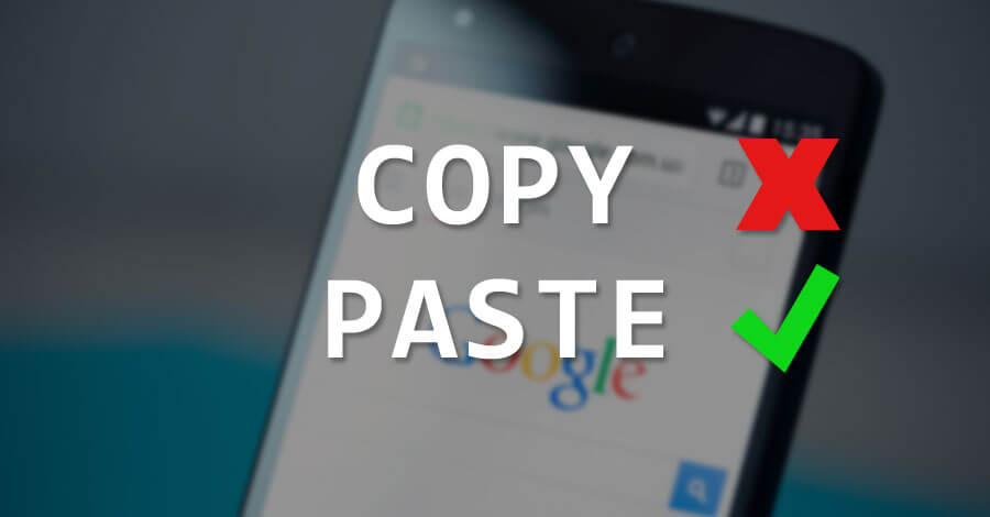 copyless paste android