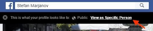 public facebook view