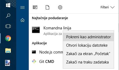 run cmd as administrator