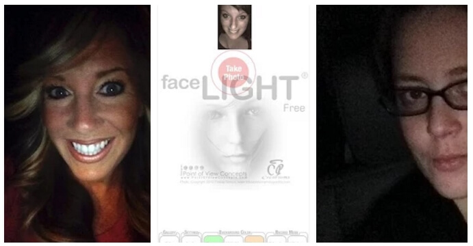front light selfie camera app android iphone