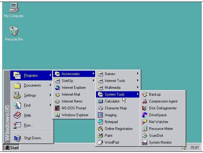 windows 95 browser sc