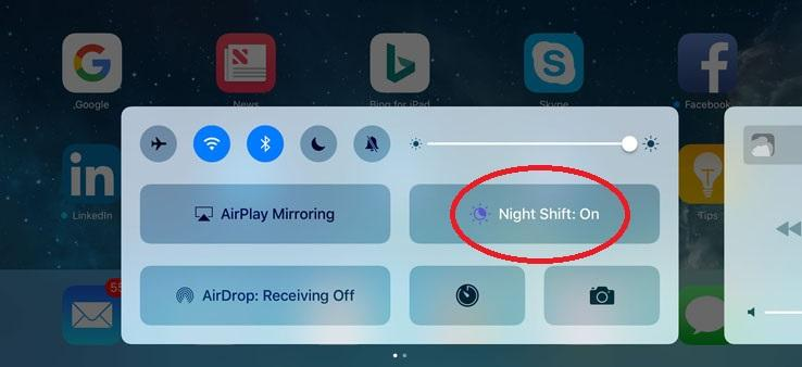 ios night shift options