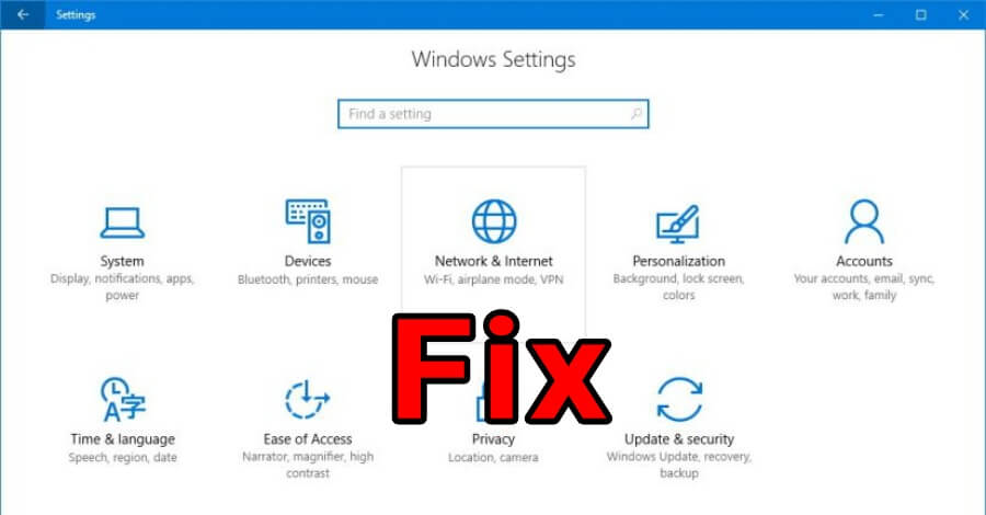 Windows 10 network settings