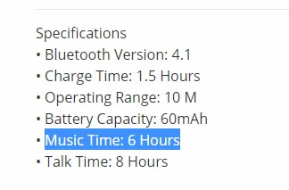 bluetooth headphones battery time2