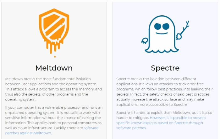 meltdown and spectre short