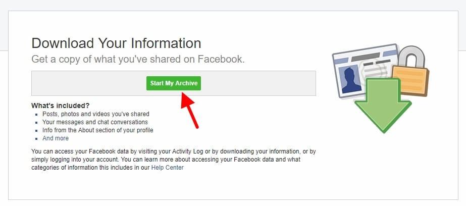 download copy of facebook profile