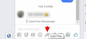 send files over facebook chat