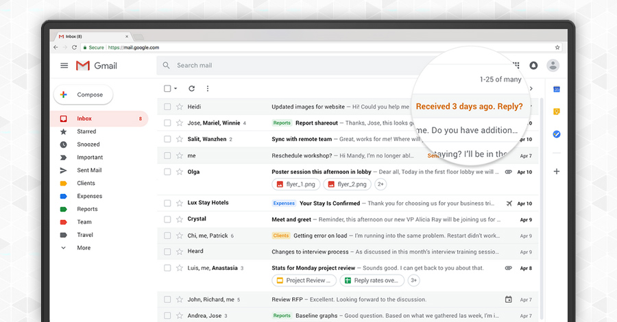 new gmail design 2018