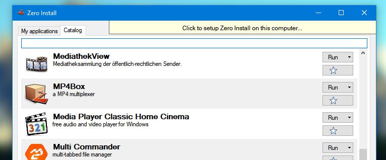 zero install tutorial