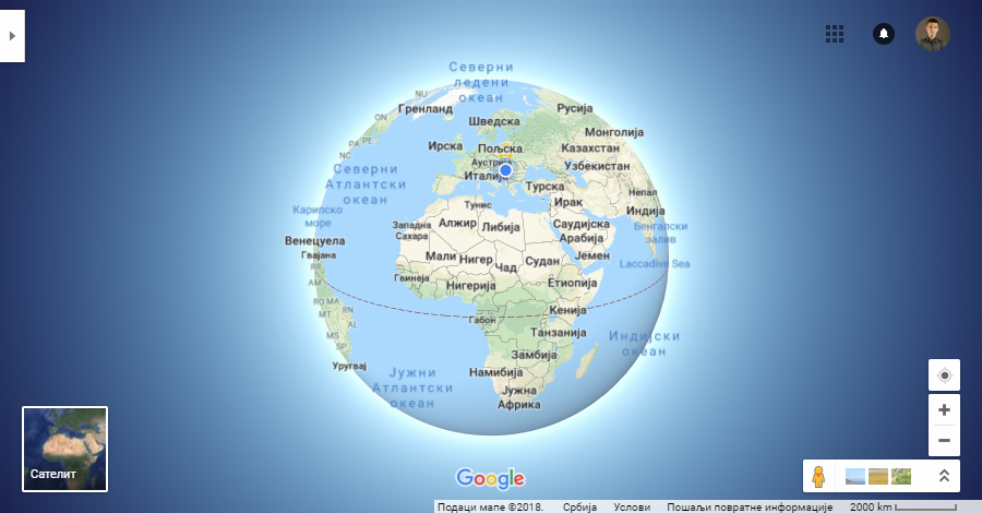 google maps 3d globe mode