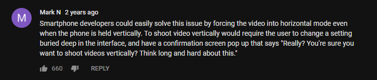 vertical video syndrome comment