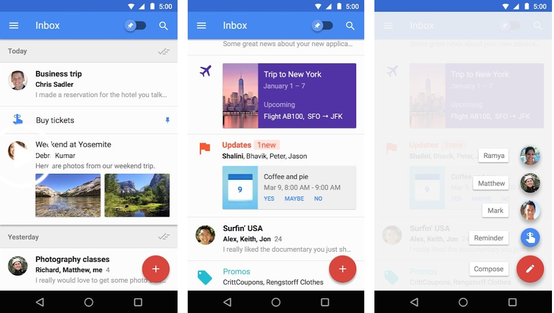 google inbox android app