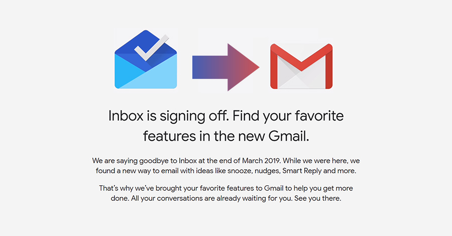 google shut down inbox