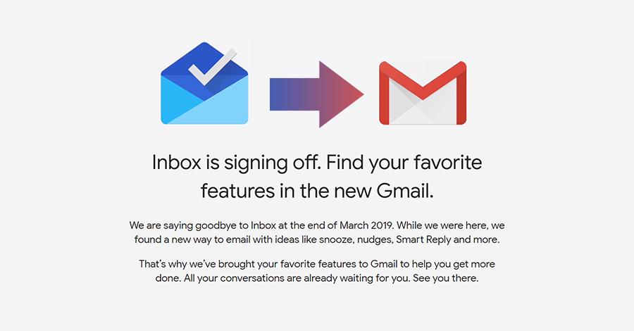 google shut down inbox