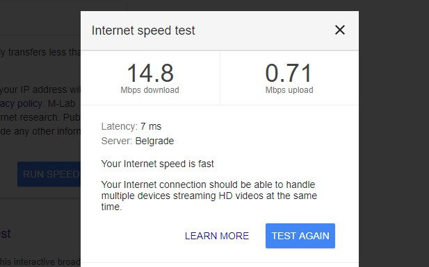 google speedtest