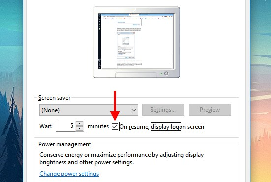 screensaver password