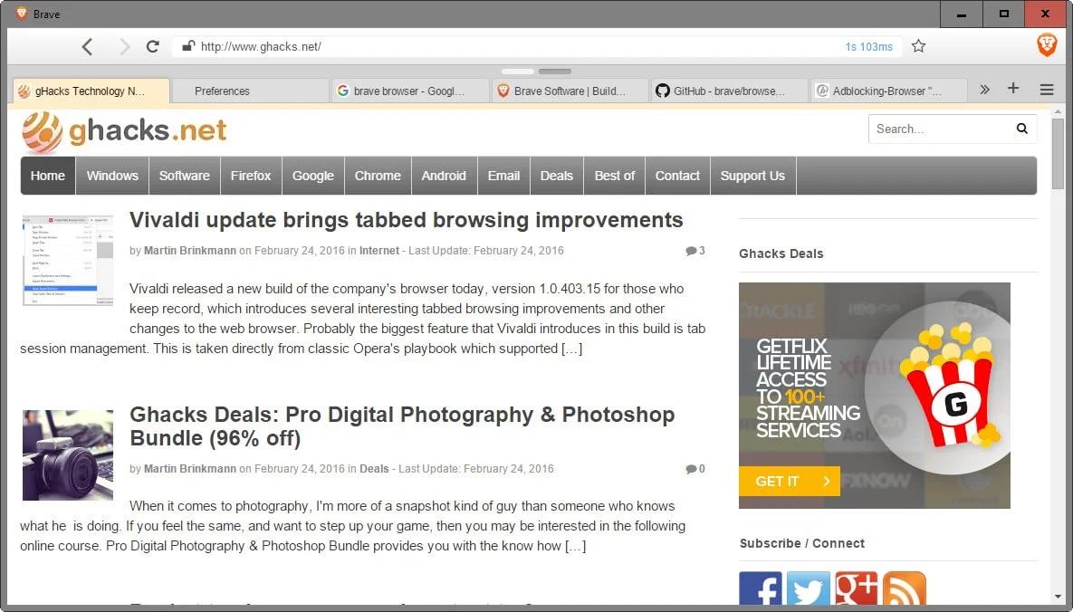 Barve Browser Windows