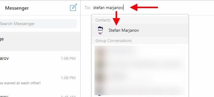 facebook messenger poslati sebi poruku
