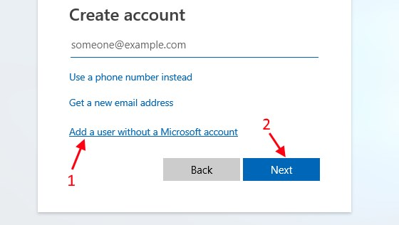 microsoft local account