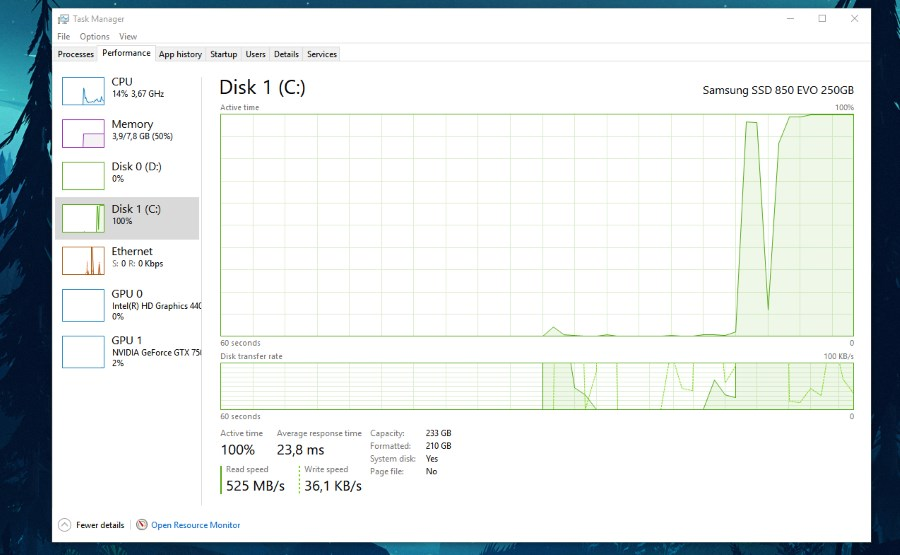 ssd speed windows task managerssd speed windows task manager