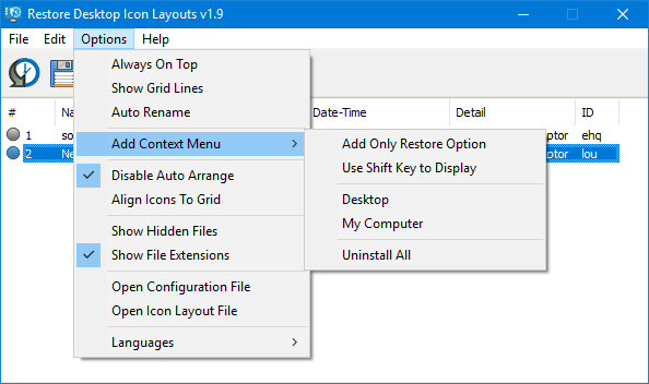add context menu reicon