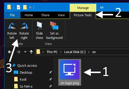 file explorer rotate images