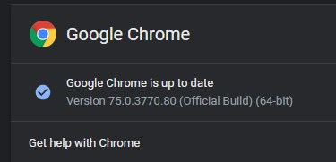chrome 75 update