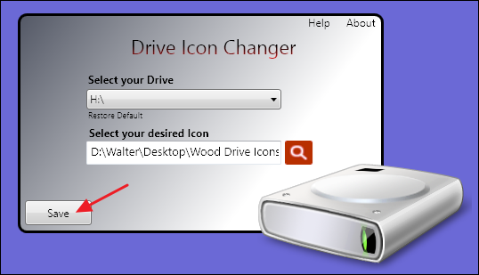 drive icon changer windows
