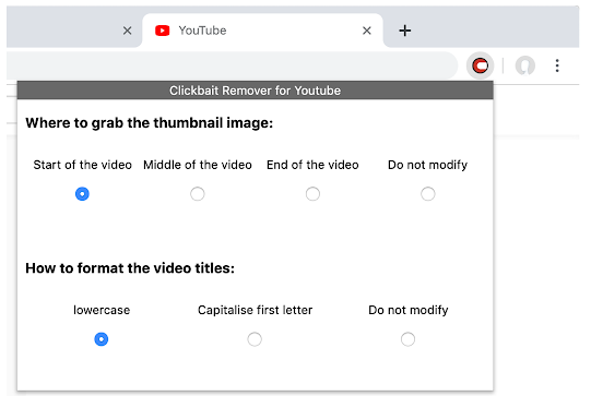 youtube clickbait remover