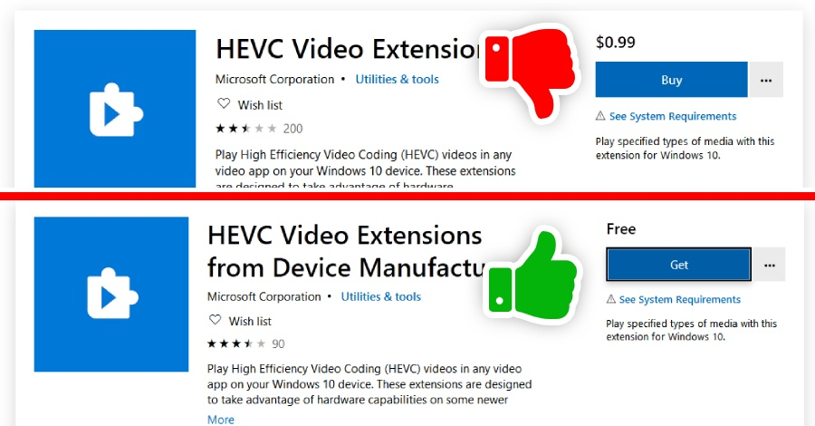 download hevc free microsoft store