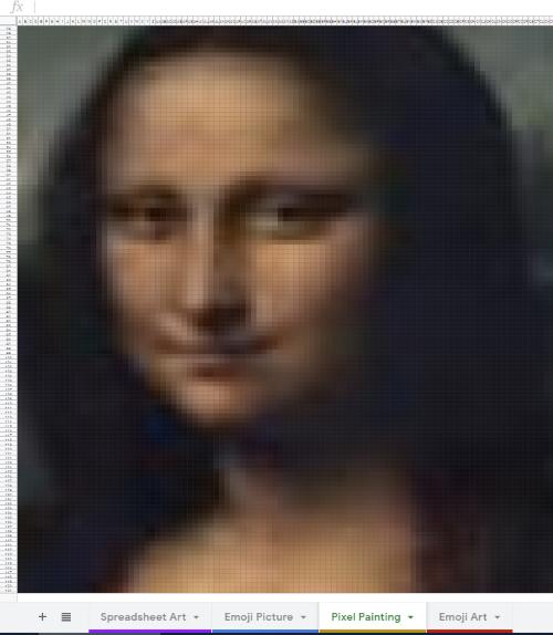 google sheets pixel art