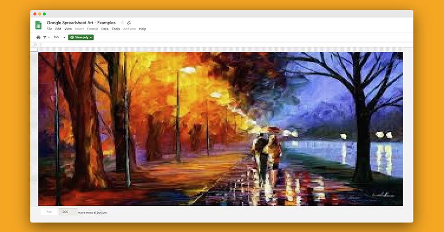 google-tabele-pixel-art