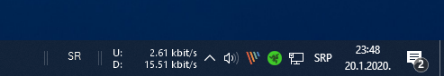 net speed monitor taskbar windows 10