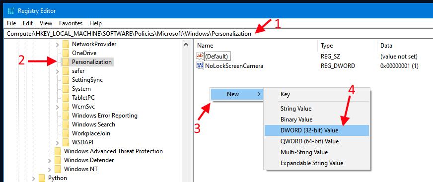 windows remove lock screen