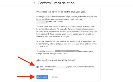 kako obrisati gmail