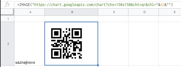 qr code google sheets