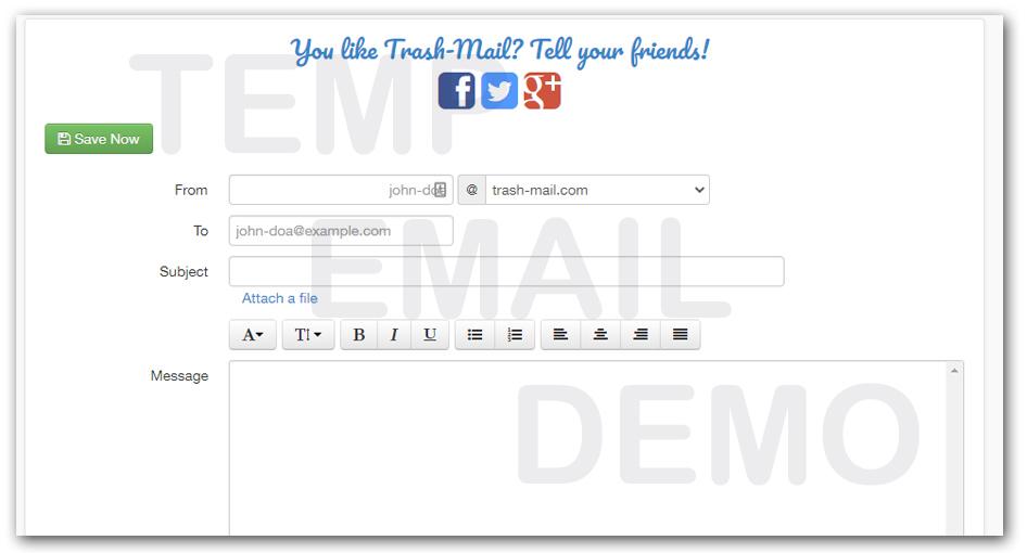 privremeni email za slanje