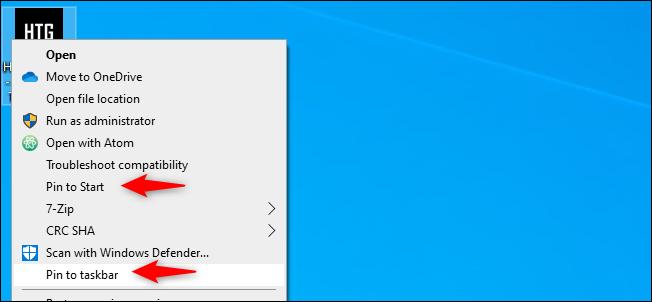 chrome sajt na taskbar ili start