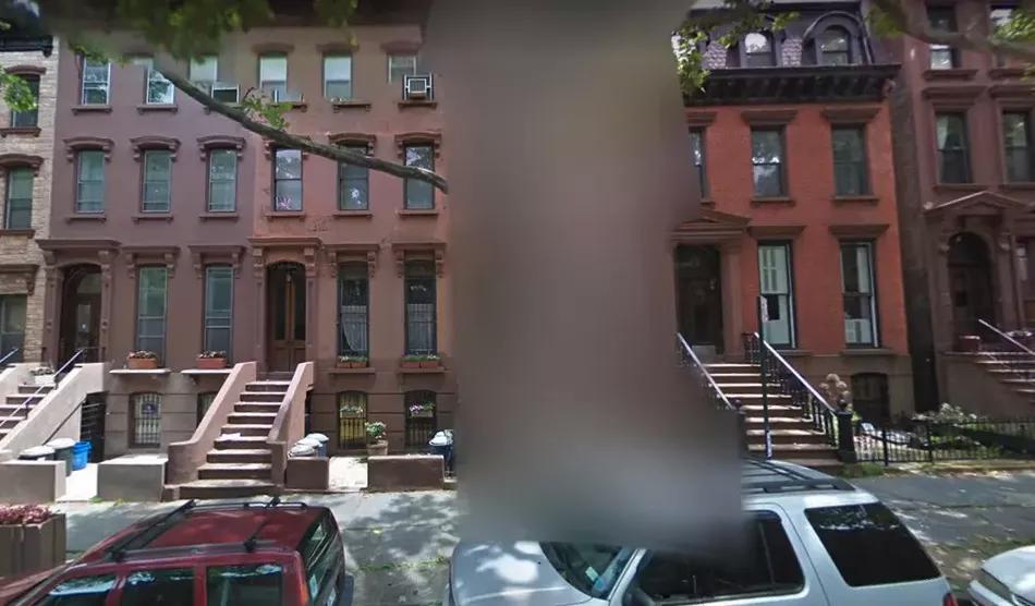 làm mờ ngôi nhà thành một ví dụ về chế độ xem phố