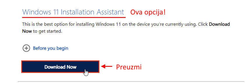azuriranje windows 11 korak 1