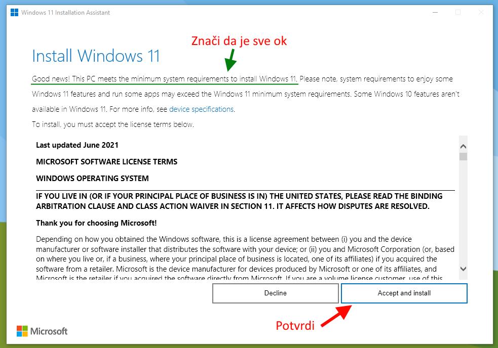 azuriranje windows 11 korak 2